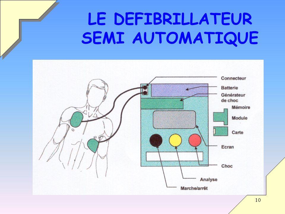 10 LE DEFIBRILLATEUR SEMI AUTOMATIQUE