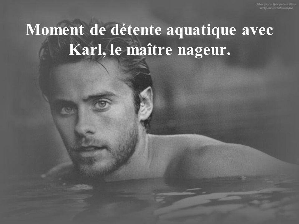 Moment de détente aquatique avec Karl, le maître nageur.