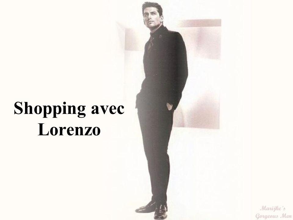 Shopping avec Lorenzo