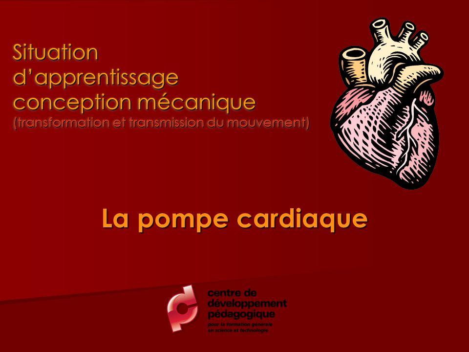 La pompe cardiaque Situation dapprentissage conception mécanique (transformation et transmission du mouvement)