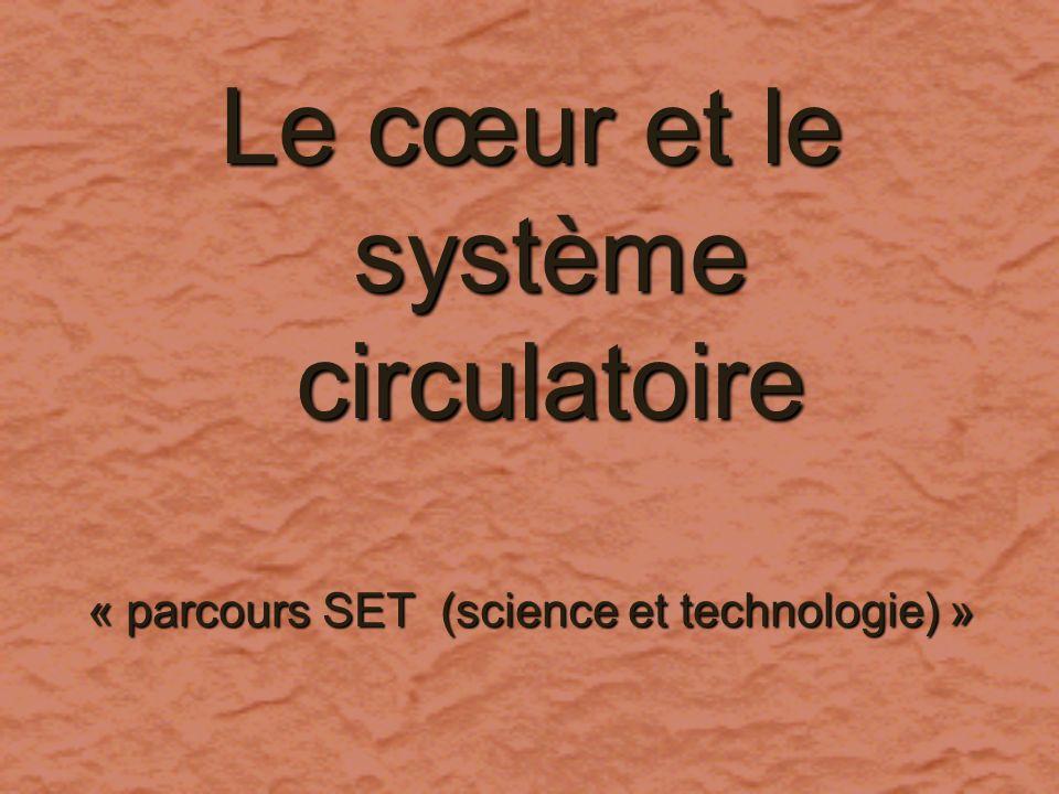Le cœur et le système circulatoire « parcours SET » Le cœur et le système circulatoire « parcours SET » Séquences dapprentissage Séquences dapprentissage 1.
