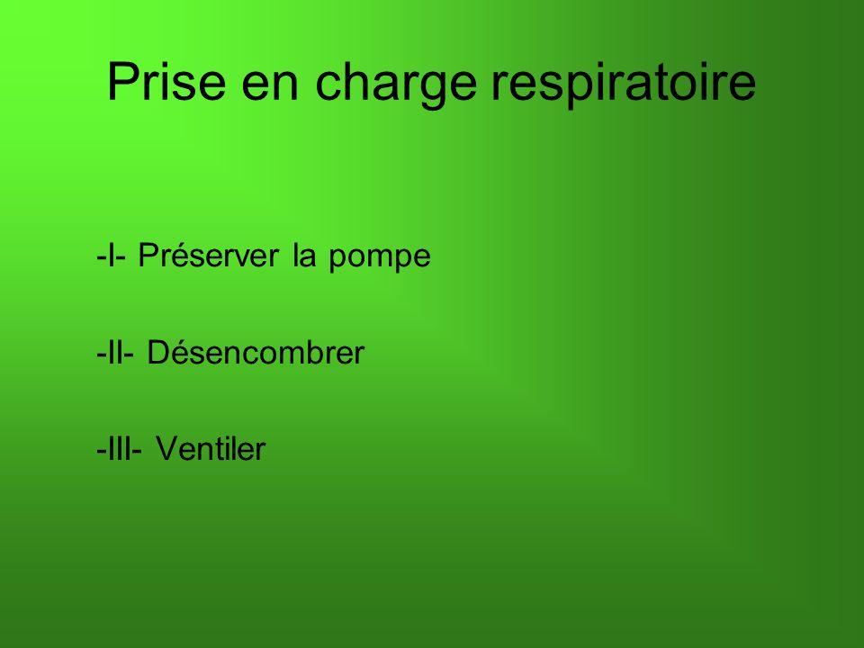 -I- Préserver la pompe -II- Désencombrer -III- Ventiler