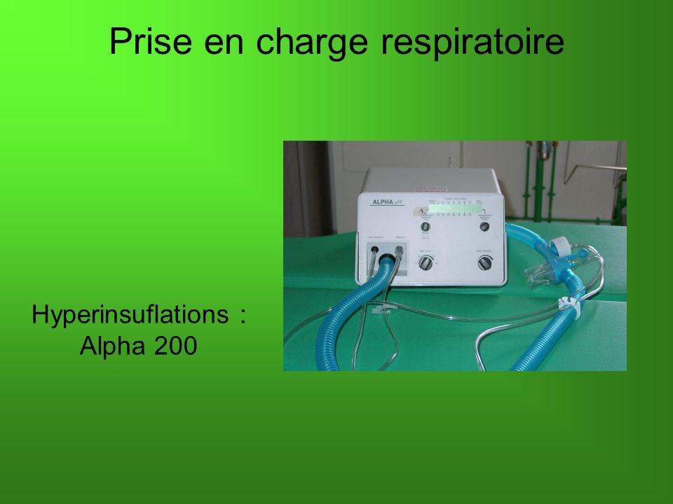 Prise en charge respiratoire Hyperinsuflations : Alpha 200