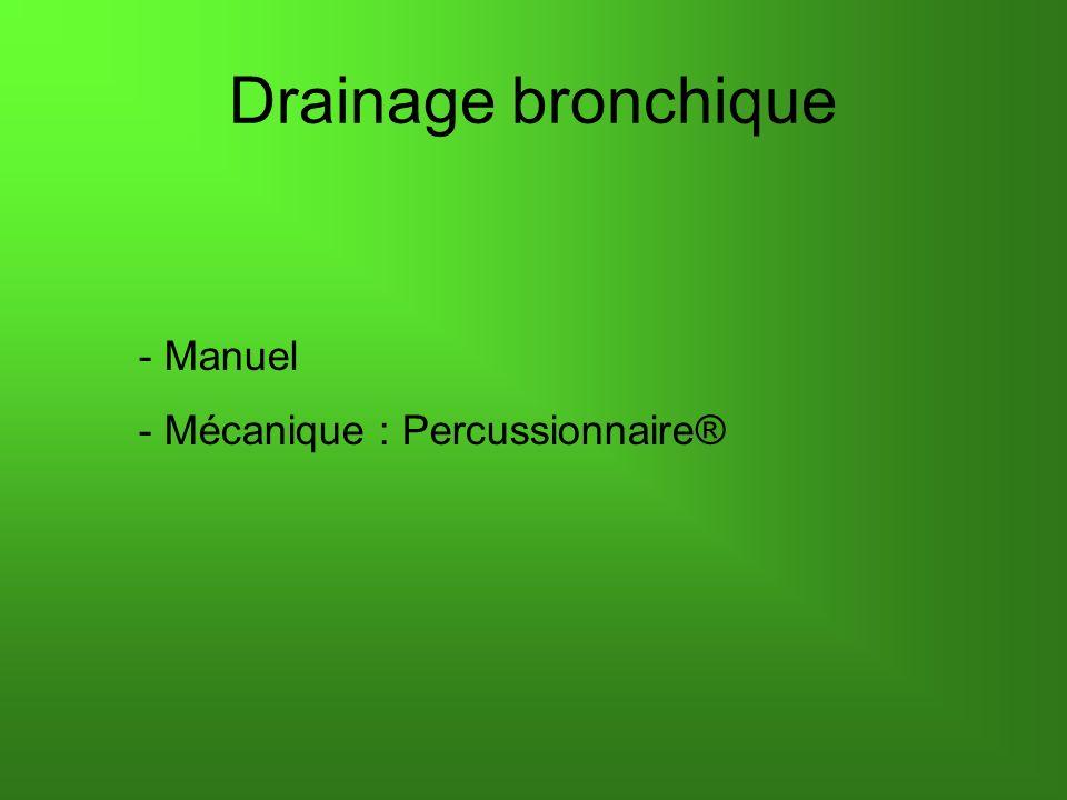 - Manuel - Mécanique : Percussionnaire® Drainage bronchique