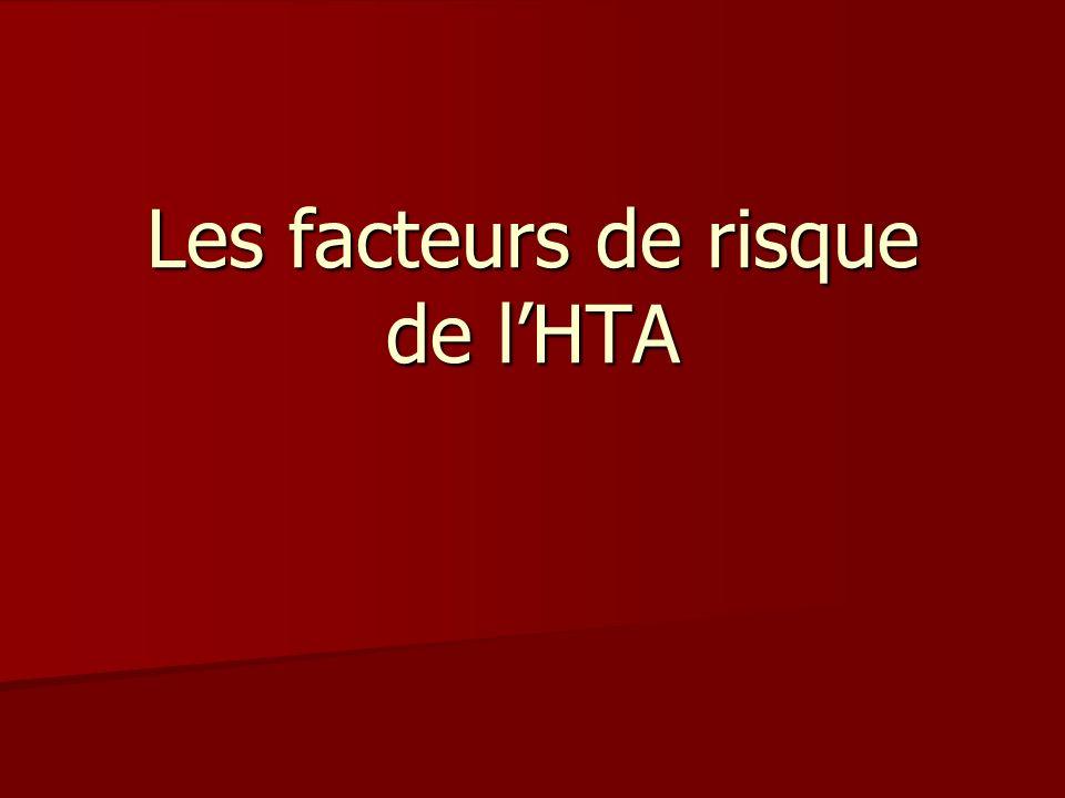 Les facteurs de risque de lHTA