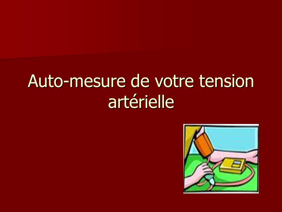 Auto-mesure de votre tension artérielle