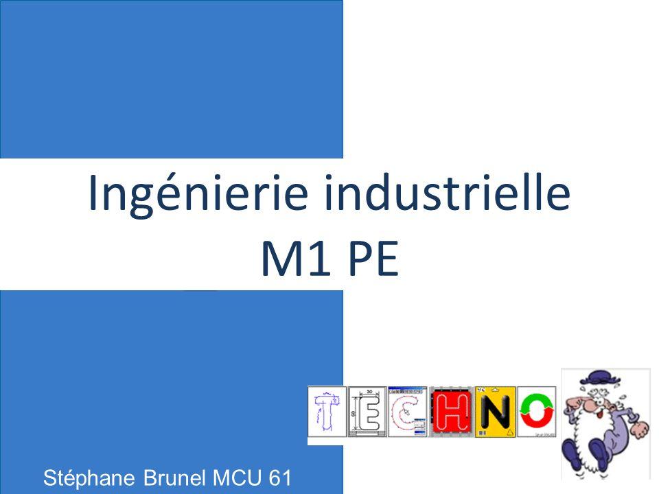 Stéphane Brunel MCU 61 Ingénierie industrielle M1 PE 1