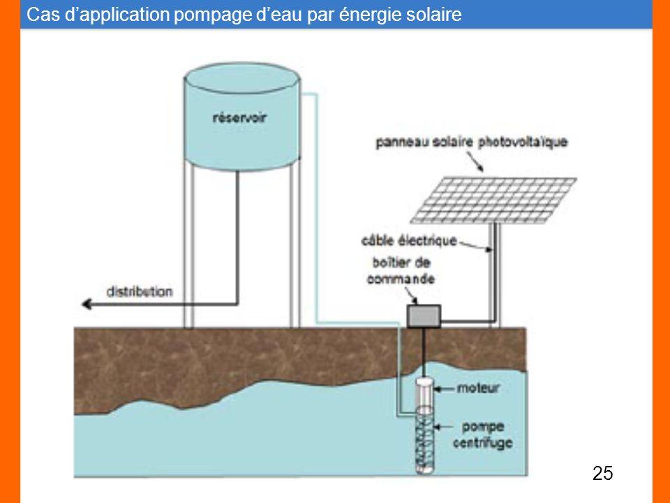 Cas dapplication pompage deau par énergie solaire 25