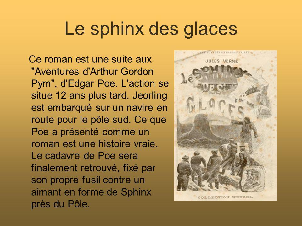 Action menée en français Jules Verne : (1828-1905) Auteur du livre étudié: Le sphinx des glaces.