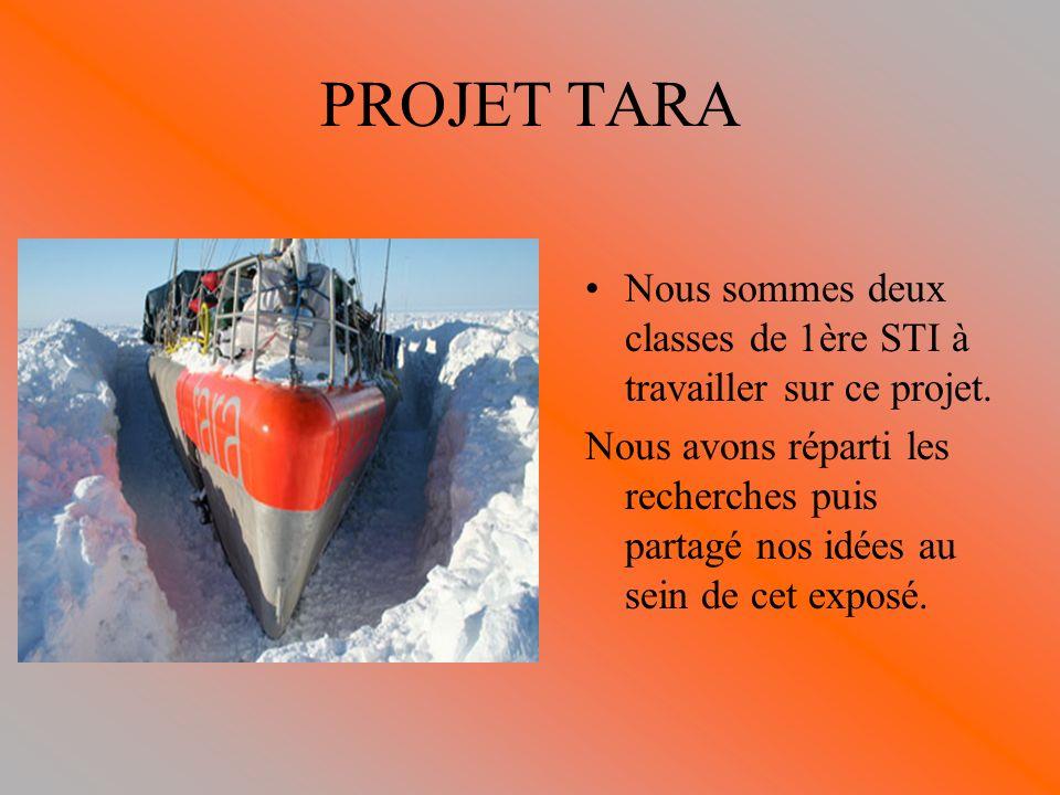 PROJET TARA Nous sommes deux classes de 1ère STI à travailler sur ce projet.