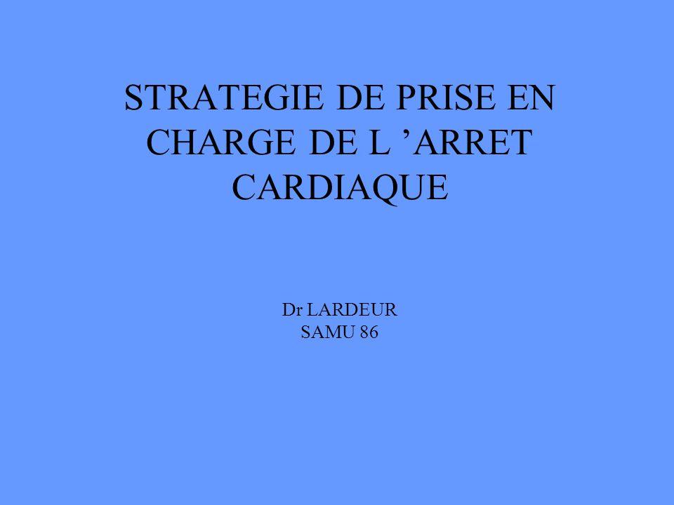 STRATEGIE DE PRISE EN CHARGE DE L ARRET CARDIAQUE Dr LARDEUR SAMU 86