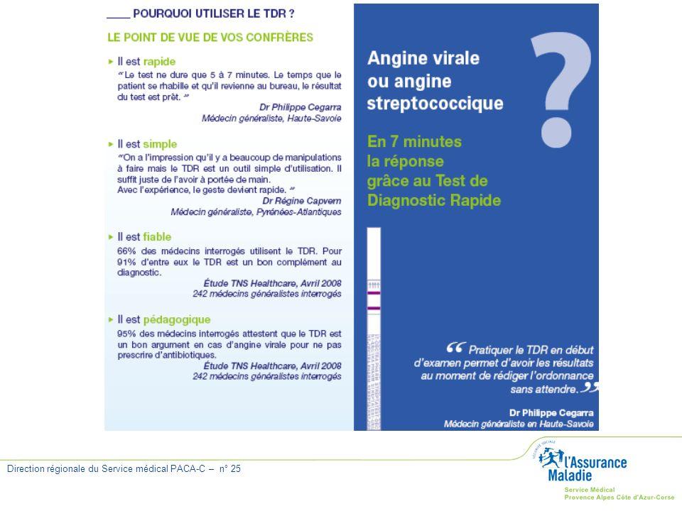 Direction régionale du Service médical PACA-C – n° 25