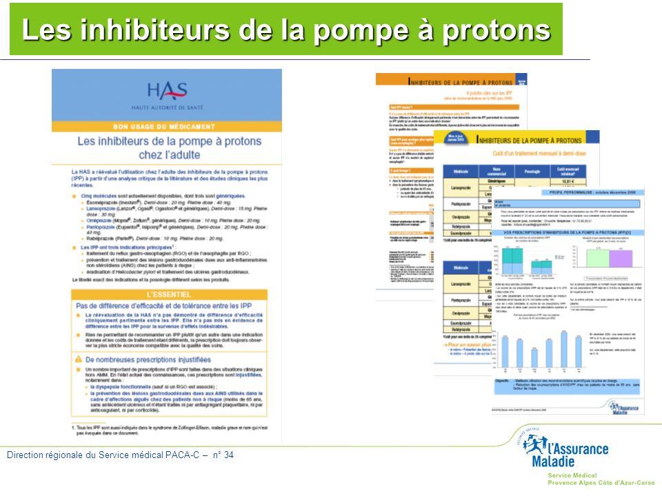 Direction régionale du Service médical PACA-C – n° 34 Les inhibiteurs de la pompe à protons