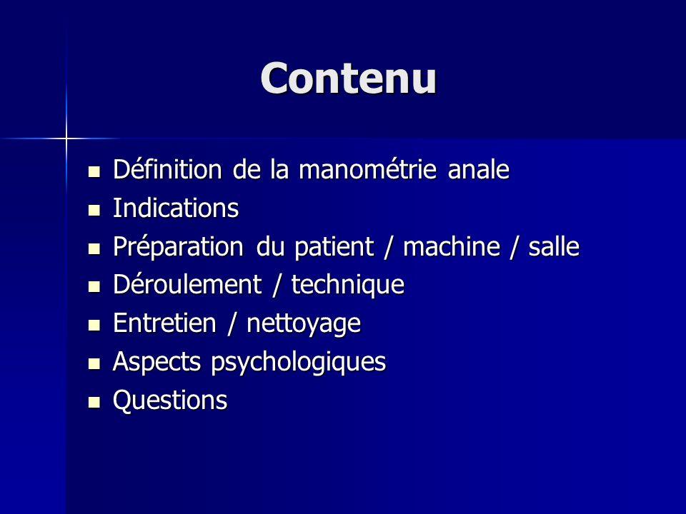 Définition La manométrie anale est un examen diagnostique permettant de déterminer la fonction quantitative du sphincter et la perception recto-anale Les premières manométries anales ont été faites dans les années 30.