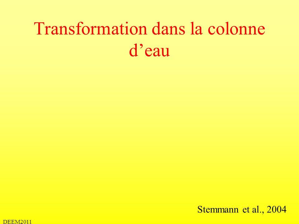 Transformation dans la colonne deau Stemmann et al., 2004