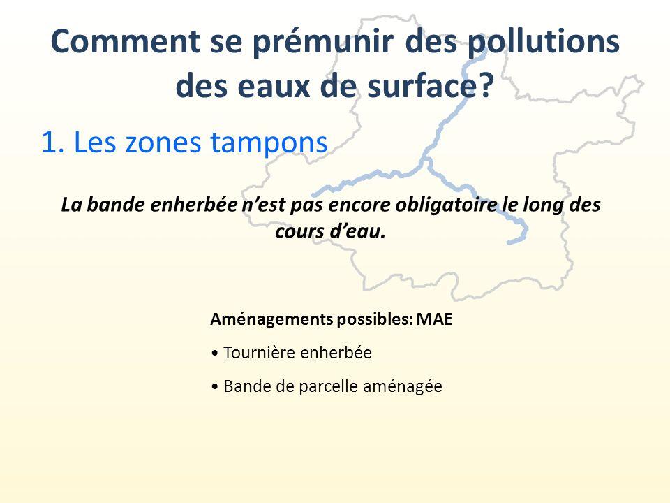 1.Les zones tampons Comment se prémunir des pollutions des eaux de surface.