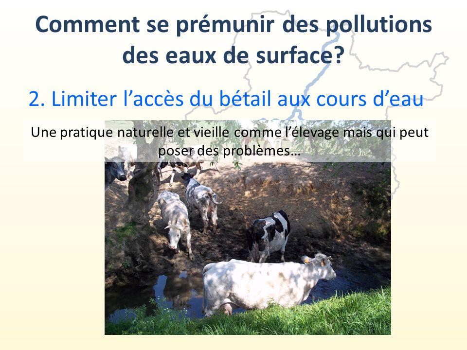 2.Limiter laccès du bétail aux cours deau Comment se prémunir des pollutions des eaux de surface.