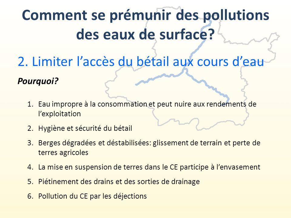 Comment se prémunir des pollutions des eaux de surface.