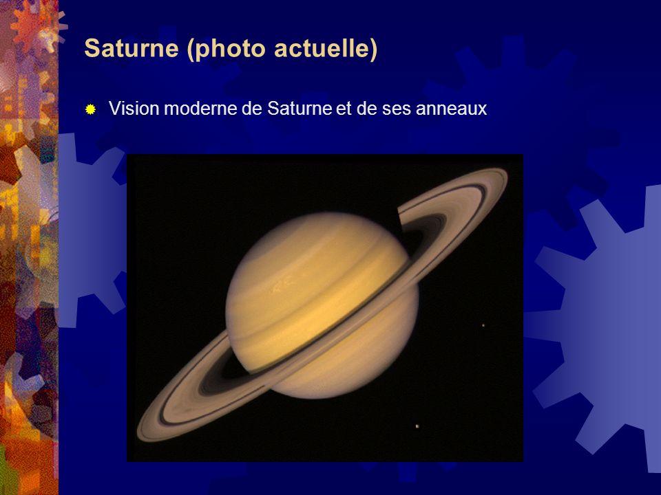 Saturne (photo actuelle) Vision moderne de Saturne et de ses anneaux