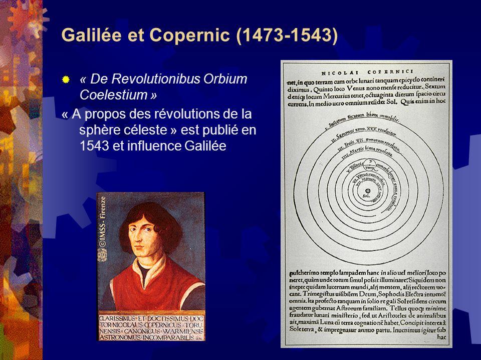 Galilée et Copernic (1473-1543) « De Revolutionibus Orbium Coelestium » « A propos des révolutions de la sphère céleste » est publié en 1543 et influe