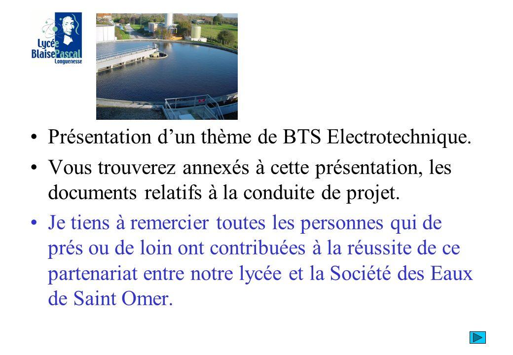 Présentation dun thème de BTS Electrotechnique.