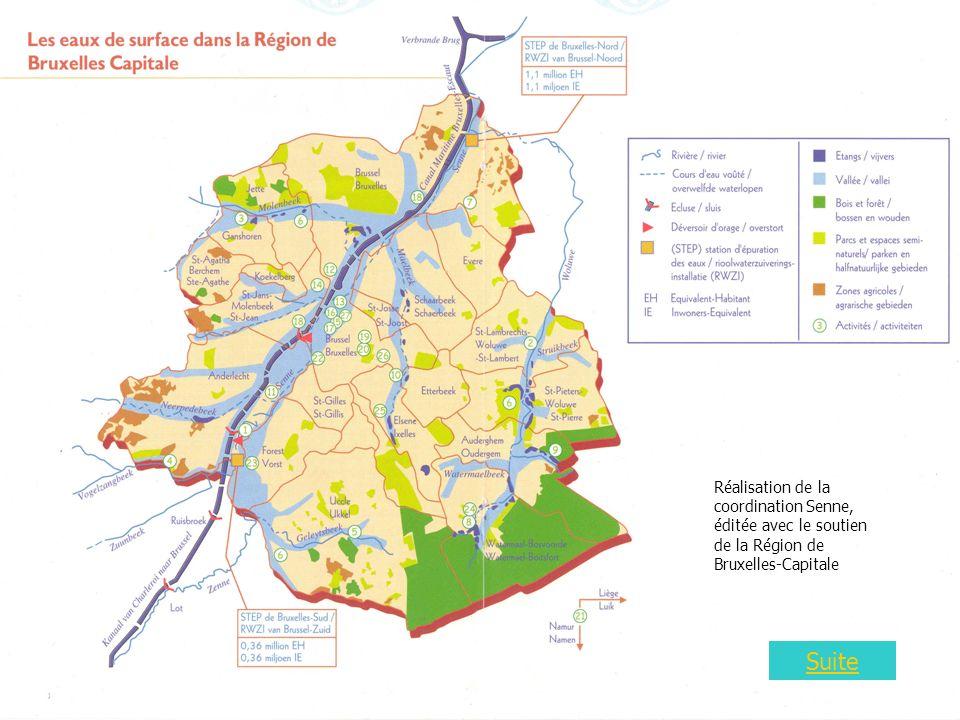 Carte 2 Suite Réalisation de la coordination Senne, éditée avec le soutien de la Région de Bruxelles-Capitale
