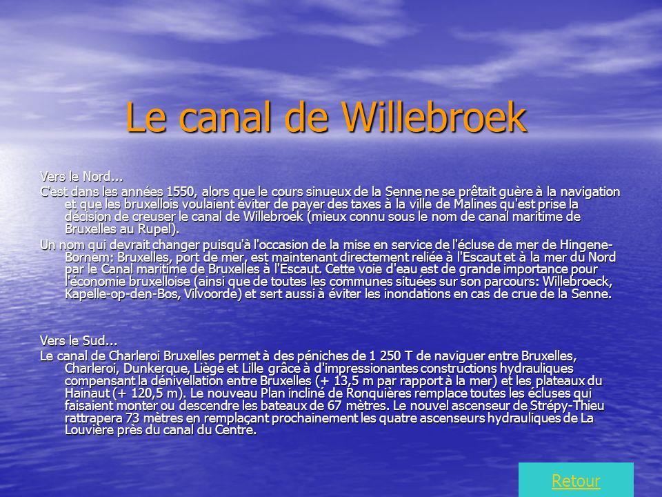 Le canal de Willebroek Vers le Nord...