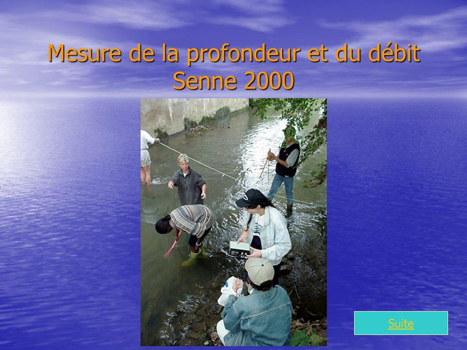 Mesure de la profondeur et du débit Senne 2000 Suite
