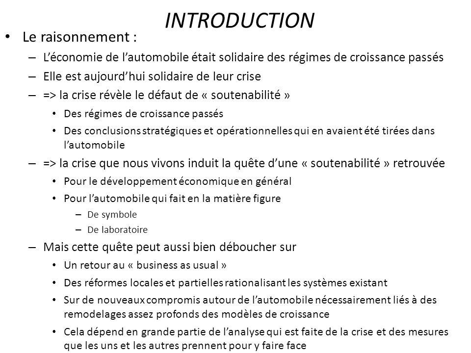 Evolution de la consommation automobile des ménages français En moyenne (càd pour lensemble des ménages français)