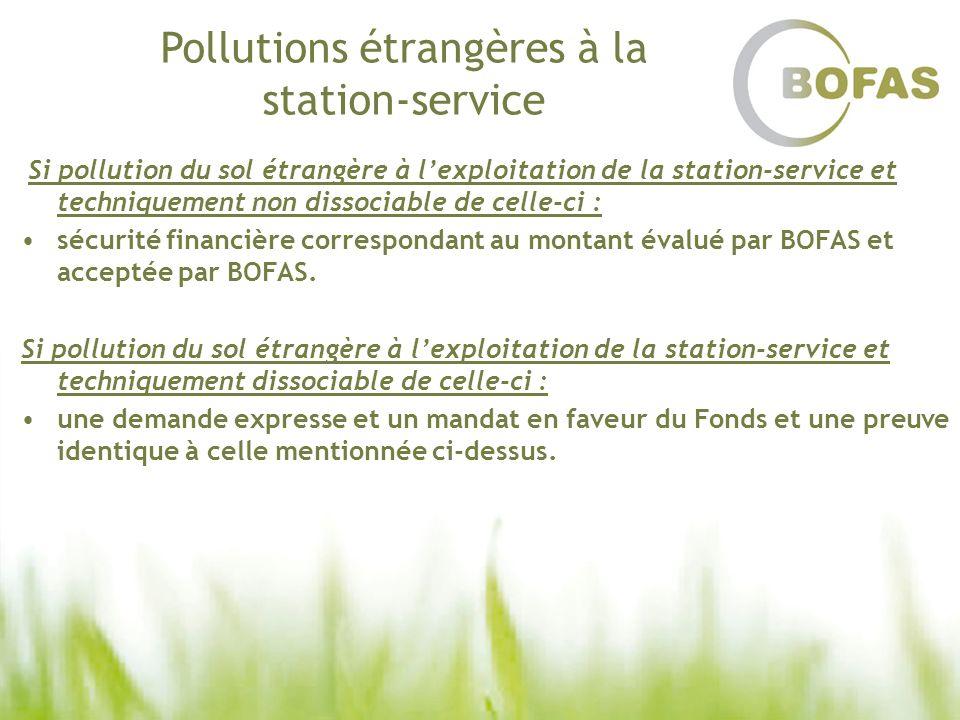 Pollutions étrangères à la station-service Si pollution du sol étrangère à lexploitation de la station-service et techniquement non dissociable de cel