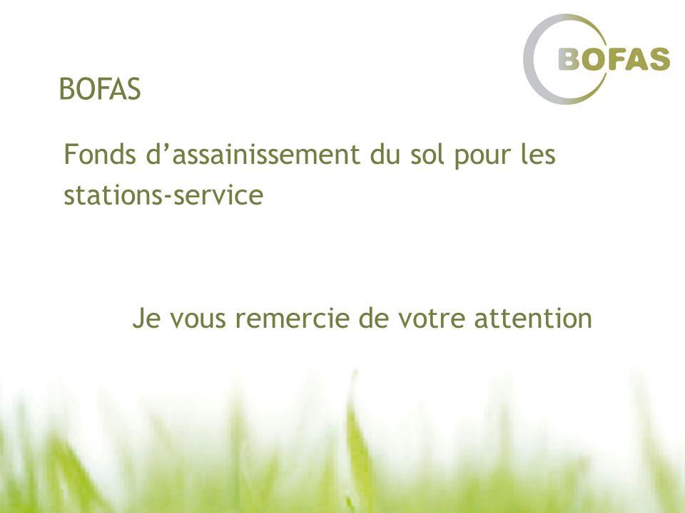 BOFAS Fonds dassainissement du sol pour les stations-service Je vous remercie de votre attention