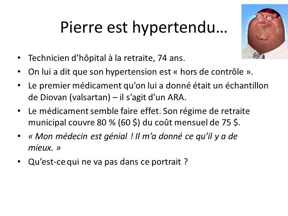 Pierre est hypertendu… Technicien dhôpital à la retraite, 74 ans.