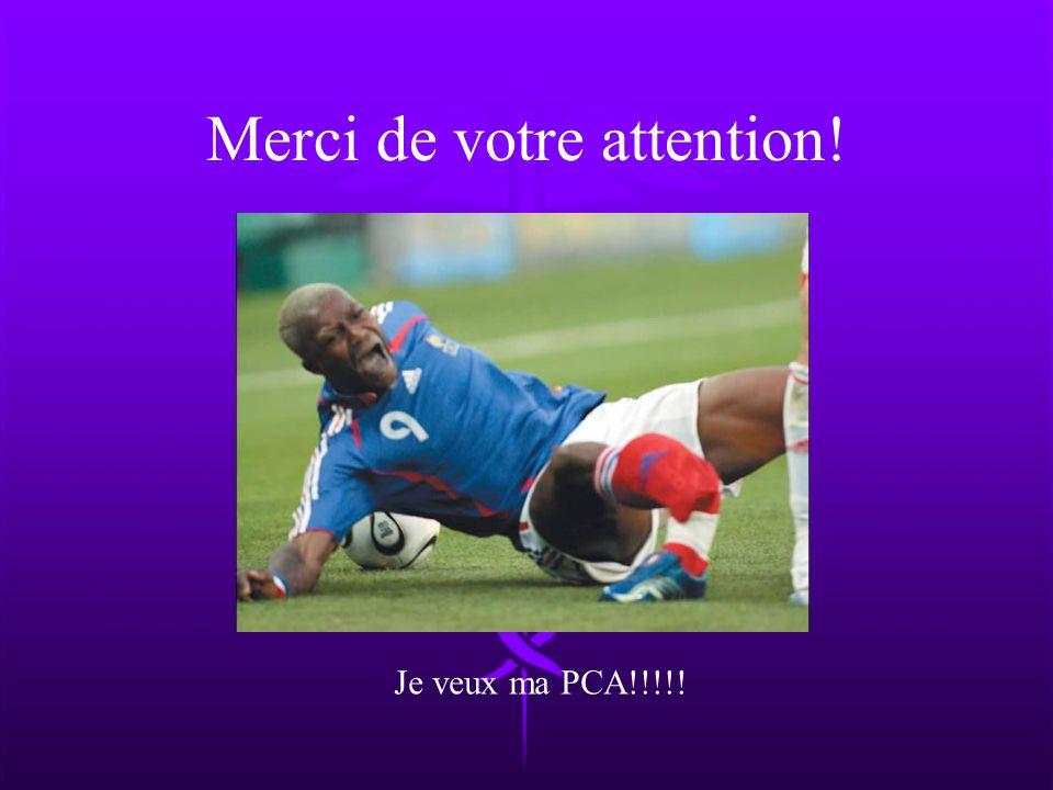 Merci de votre attention! Je veux ma PCA!!!!!