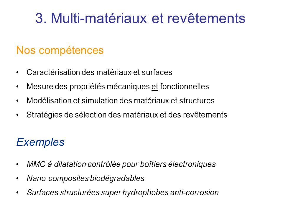 Nos compétences Caractérisation des matériaux et surfaces Mesure des propriétés mécaniques et fonctionnelles Modélisation et simulation des matériaux