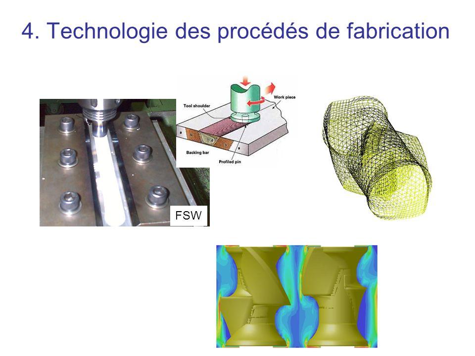4. Technologie des procédés de fabrication FSW