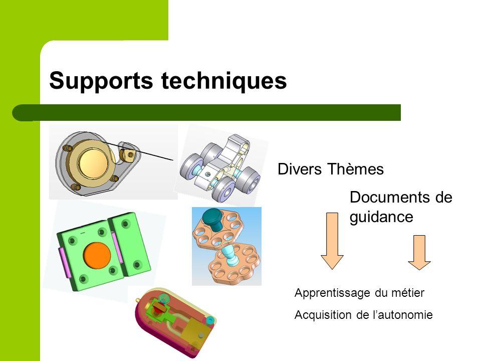 Supports techniques Divers Thèmes Documents de guidance Apprentissage du métier Acquisition de lautonomie