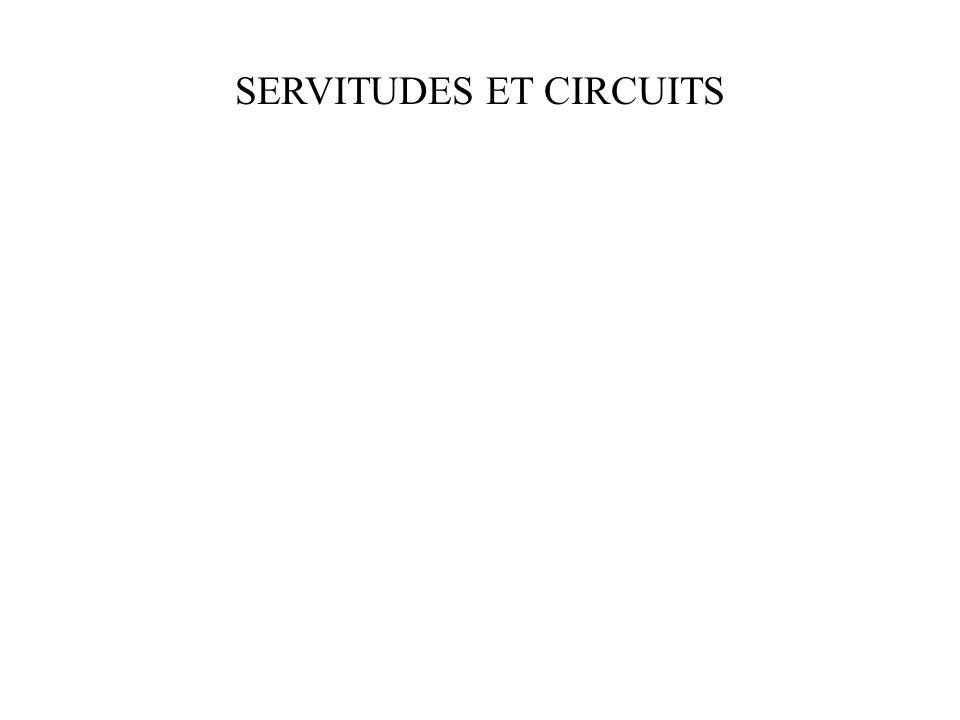 SERVITUDES ET CIRCUITS