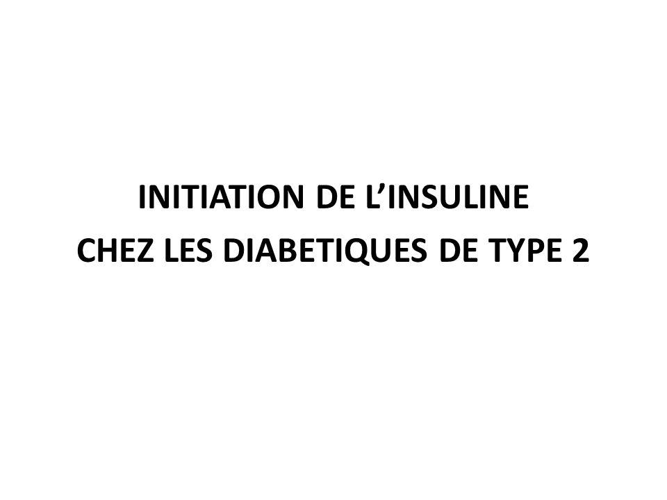 INITIATION DE LINSULINE CHEZ LES DIABETIQUES DE TYPE 2