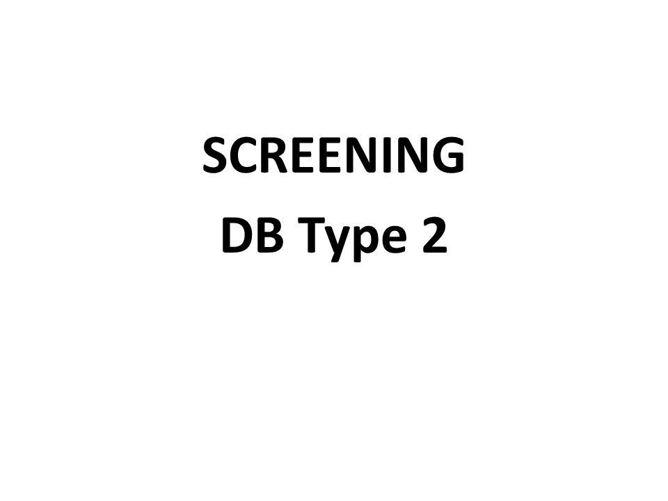 RETINOPATHIE Screening 5 ans après le diagnostique chez les DB type 1 si >= 15 ans Chez tous les DB type 2 Si pas de RD: q 1 ans chez les DB type 1 et q 1- 2 ans chez les DB type 2
