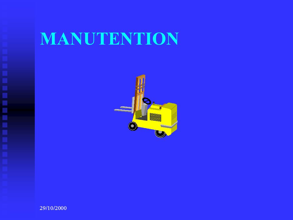29/10/2000 MANUTENTION