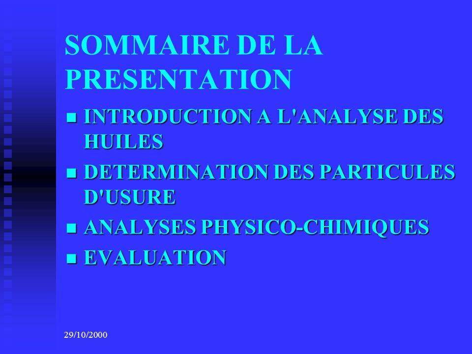 29/10/2000 STRATEGIE DE LA MAINTENANCE COURIR AU RISQUE: PAS DE PROGRAMMATION, REMPLACEMENT DES PIECES A LA DEMANDE...
