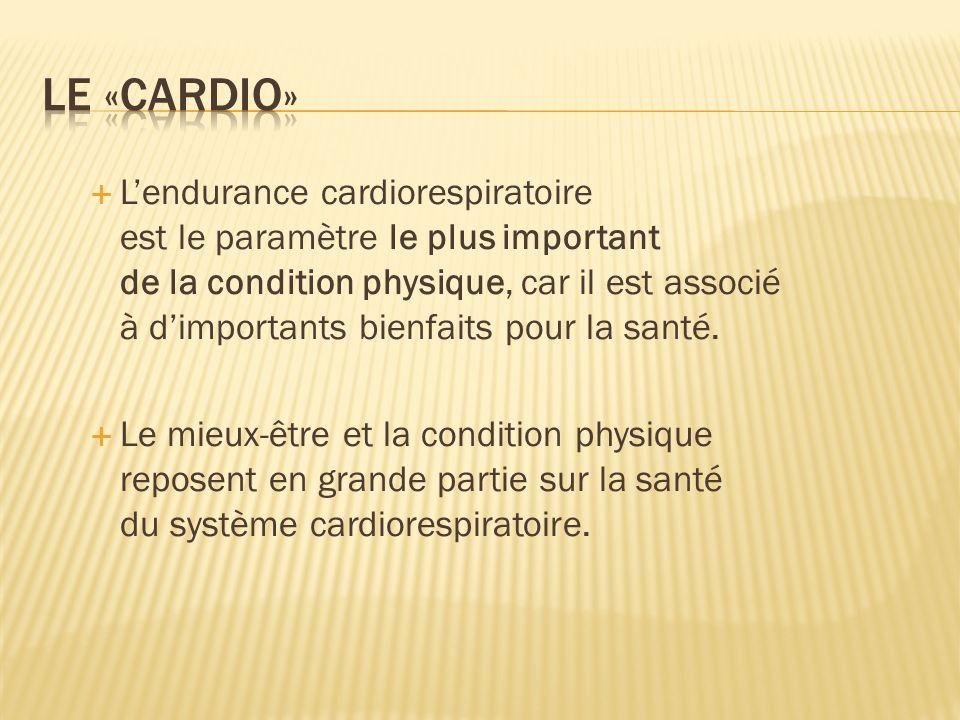 Objectif à se fixer pour entraîner lendurance cardiorespiratoire: Améliorer ou maintenir?