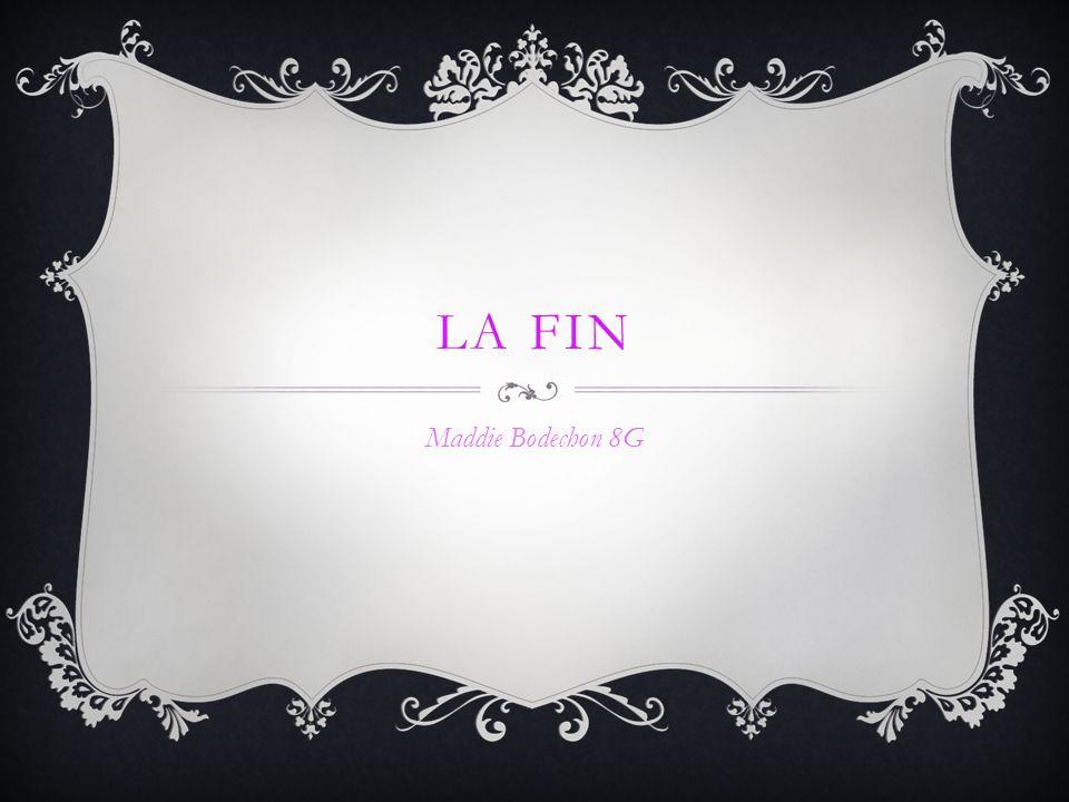 LA FIN Maddie Bodechon 8G