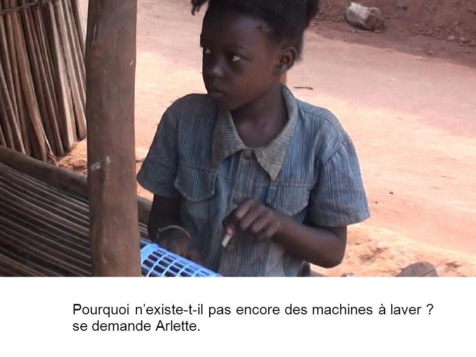 Pourquoi nexiste-t-il pas encore des machines à laver se demande Arlette.