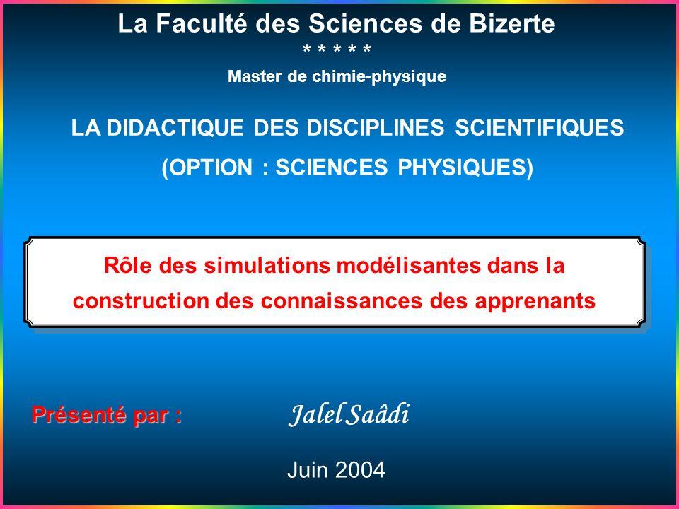 Exemples Avantages & Inconvénients des simulations Différence entre Simulation & Animation Les Simulations en physique & en Didactique Lanalogie 1 Rôl