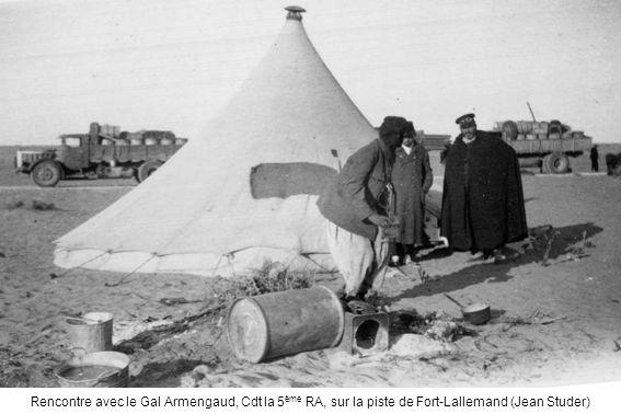 Rencontre avec le Gal Armengaud, Cdt la 5 ème RA, sur la piste de Fort-Lallemand (Jean Studer)
