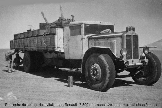 Rencontre du camion de ravitaillement Renault - 7 500 l dessence, 20 t de poids total (Jean Studer)