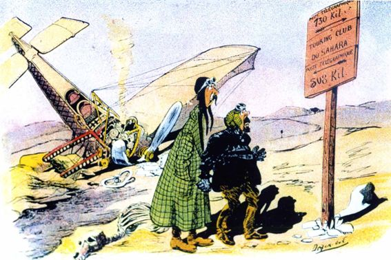 En février 1926, le lieutenant aviateur Georges Estienne, au cours dune permission alors quil est au service technique à Villacoublay, remonte vers le nord à partir de Tessalit (près dAguelock) avec deux Renault six roues pour baliser la route du Tanezrouft tout le long de 1 000 km sans repères et complètement dépourvus deau.