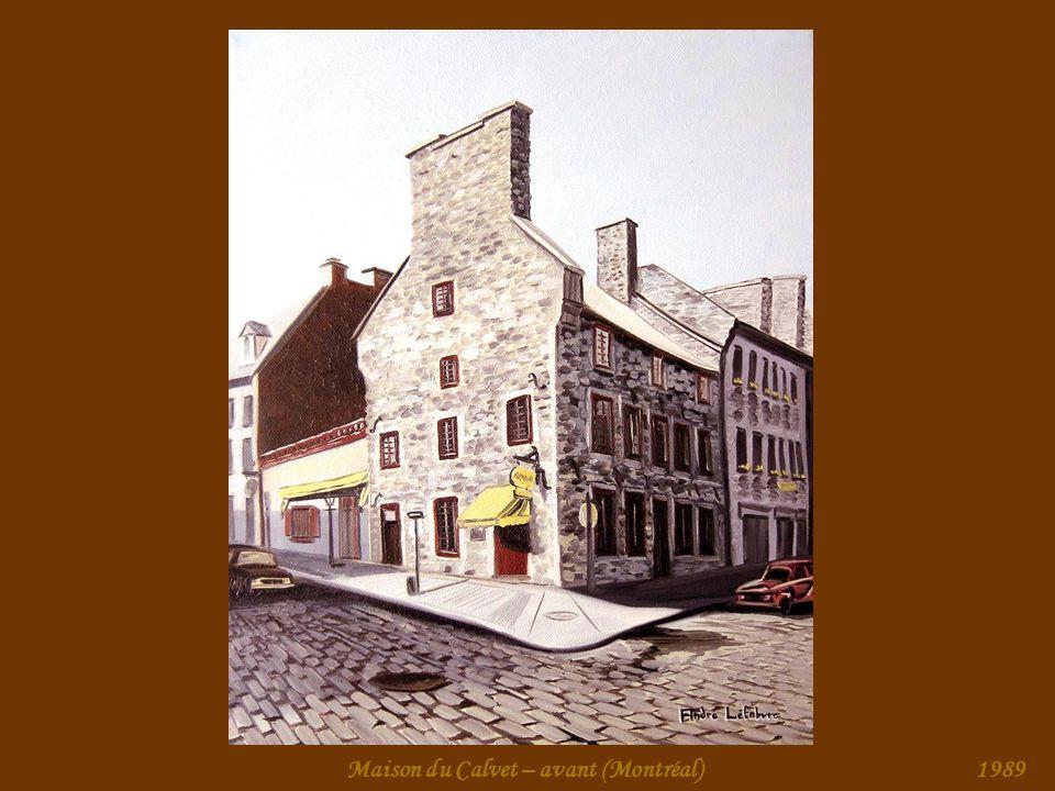 Maison du Calvet – arrière (Montréal)1989