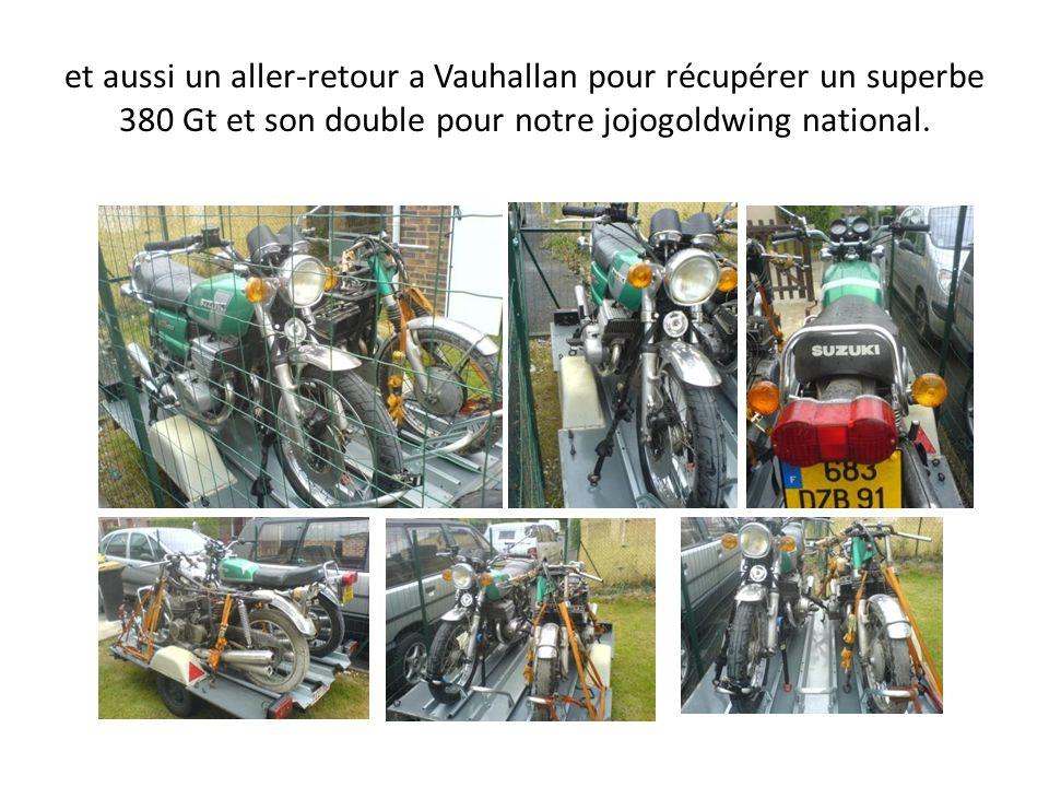 et aussi un aller-retour a Vauhallan pour récupérer un superbe 380 Gt et son double pour notre jojogoldwing national.